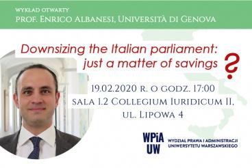 Wykład otwarty prof. Enrico Albanesi - 19.02