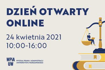 Dzień Otwarty WPiA UW online dla kandydatów na studia