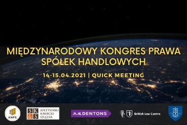 Międzynarodowy Kongres Prawa Spółek Handlowych - 14-15.04