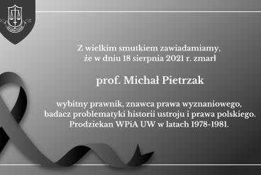 Odszedł Profesor Michał Pietrzak