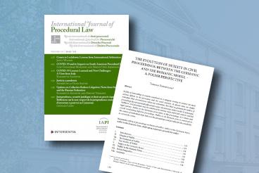Artykuł prof. Tadeusza Zembrzuskiego w prestiżowym czasopiśmie International Journal of Procedural Law